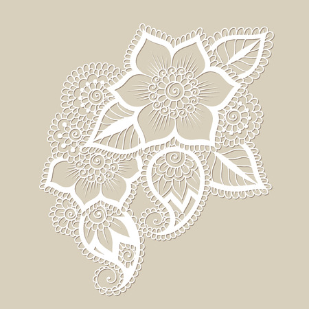 Doodle Vector Illustration Design Element. Flower Ornament. Illustration