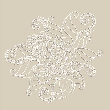 traditional tattoo: Doodle Vector Illustration Design Element. Flower Ornament. Illustration