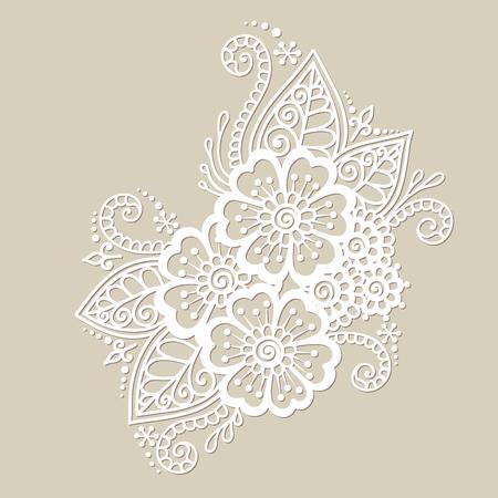 flower pattern: Doodle Vector Illustration Design Element. Flower Ornament. Illustration