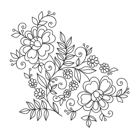 Flower design ornament element.