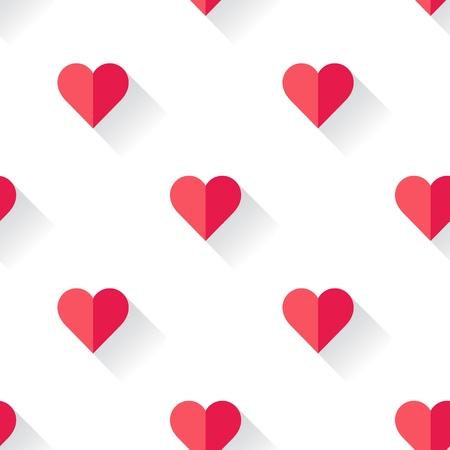 Abstract Valentine s heart pattern. Vector illustration. Ilustrace