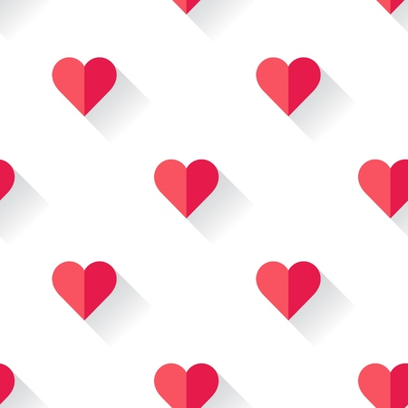 Abstract Valentine s heart pattern. Vector illustration. Çizim
