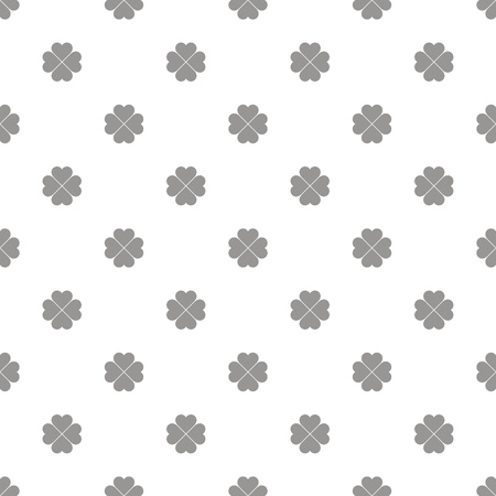 Seamless pattern of gray clovers. Vector ornament. Çizim