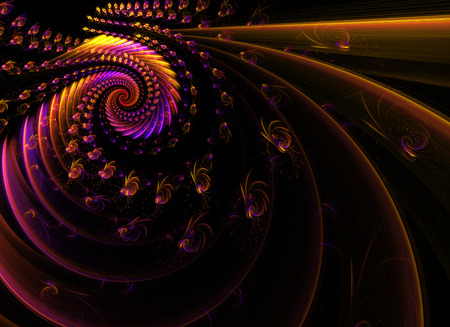 The picture shows a beautiful fractal spiral