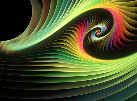 fiestas electronicas: fractal resumen de antecedentes una ilustraci�n 2D generada por computadora Foto de archivo