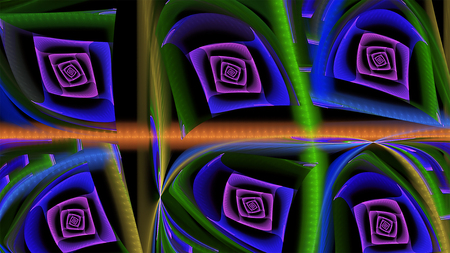 illustrati: abstract fractal background a computer-generated 3D illustrati, banner