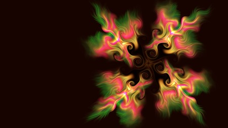 2d: abstract fractal background a computer-generated 2D illustration