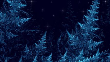 Fractal Pinnate Fern - Fractal Art - 3D illustration