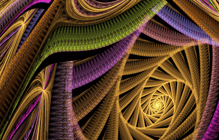 illustrati: abstract fractal background a computer-generated 3D illustrati