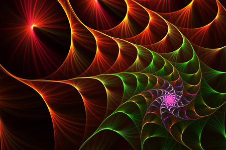 fractal background: abstract fractal background a computer-generated 2D illustration,spiral Stock Photo