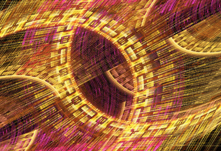abstract fractal background a computer-generated 3D illustration Stock Photo