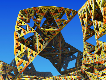 fantastical: Fractal background, the city of the future