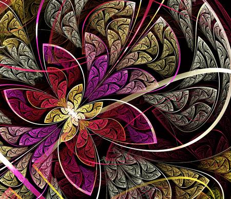 guadaña: Patrón fractal simétrico multicolor