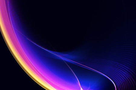 Abstract fractal background, computer-generated illustration of wavy lines