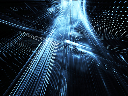 Abstract technology illustration, illustration