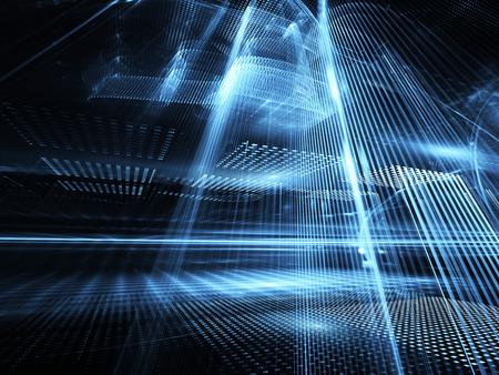 Illustration abstraite de la technologie, illustration Banque d'images - 85438513