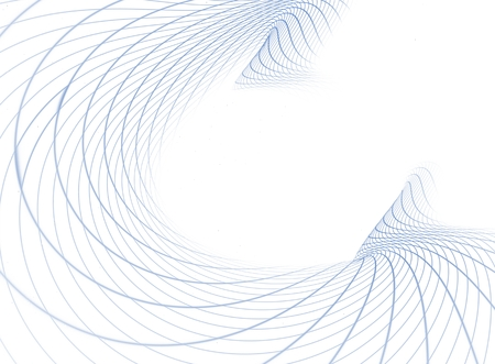 Fractal abstract background from graphic blue lines creating white squares