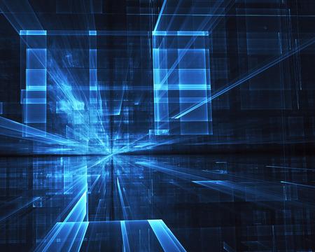Fractal art - computer image, technological background Foto de archivo