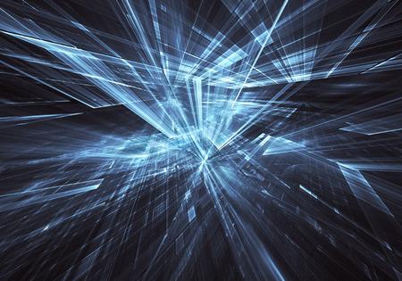 Fractal art - computer 3D image, technological background Stock Photo