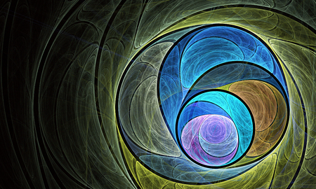 abstract fractal background, texture, fractal spiral Stock Photo