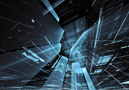 Abstract technology 3D illustration