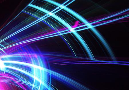 Sfondo dinamico di colore astratto con effetto luminoso. Spirale frattale. Arte frattale Archivio Fotografico