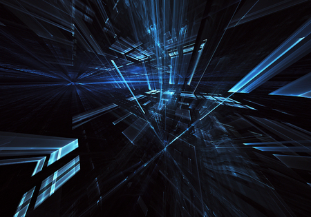 Computer generated abstract tehnology image. Three-dimensional 3D fractal, texture