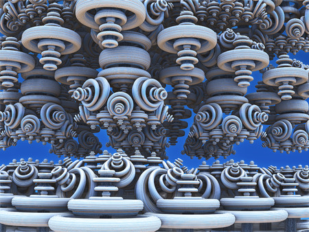 Fractal 3D background, abstract 3D illustration, element for design