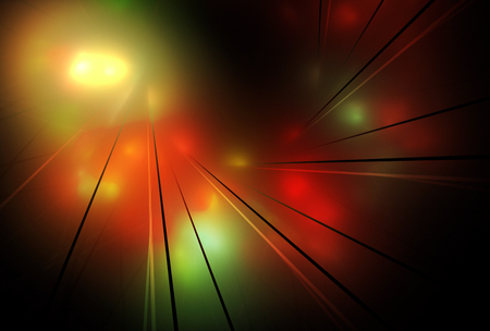 Abstract color dynamic background with lighting effect. Fractal art 写真素材