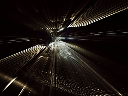 Abstract background with lighting effect. Technological fractal. Abstract 3D fractal background, 3D illustration.