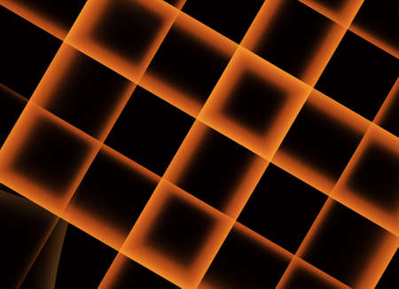 In blue, a technological textured background is a fractal rendering.