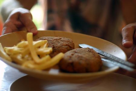 vegetable patties with potatoes Zdjęcie Seryjne