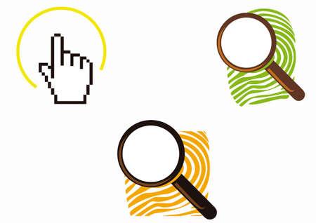 Search footprint logo