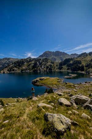 arando: Lake valley background.