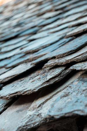 slate roof: Roof slate Stock Photo
