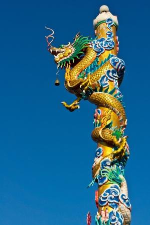 Dragon pole. Stock Photo - 12290506