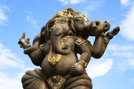 Three-headed Ganesh  photo