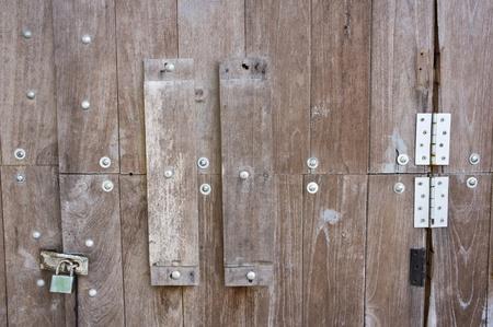 Antique wooden door  photo
