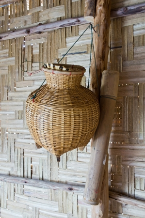 apprehend: Bamboo basket for trapped fish