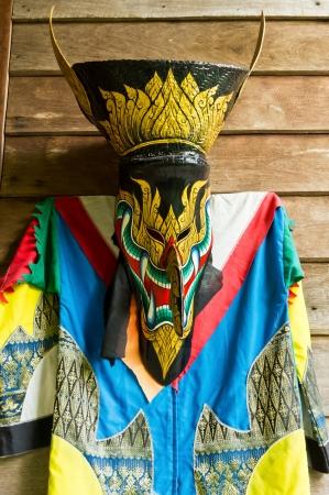 Colorful of Thai Ghost Dance.,Thai culture. photo