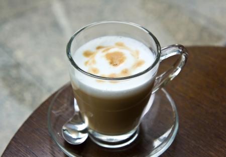 Breken met hete cappuccino.