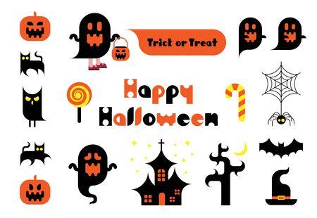 Illustration material for Halloween Иллюстрация