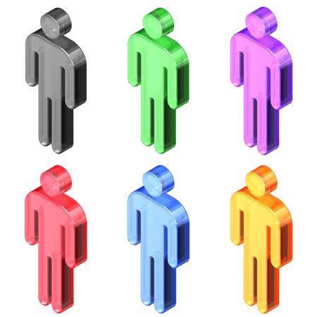 People, Pictograms, Isometric Banco de Imagens