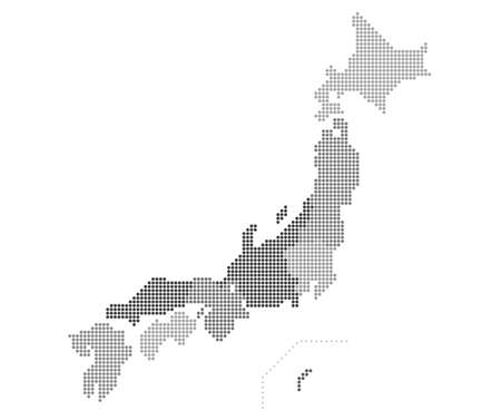 Dot Map of Japan (by region, by prefecture)