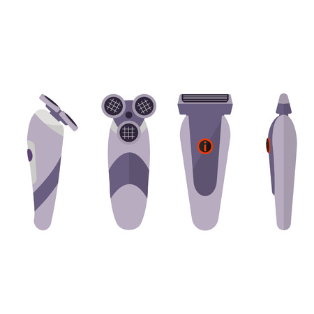 shaver: Electric shaver on white background Illustration