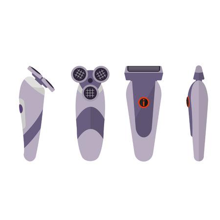 rasoio: Rasoio elettrico su sfondo bianco Vettoriali