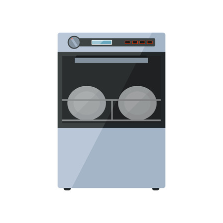 Dishwasher on a white background Vector
