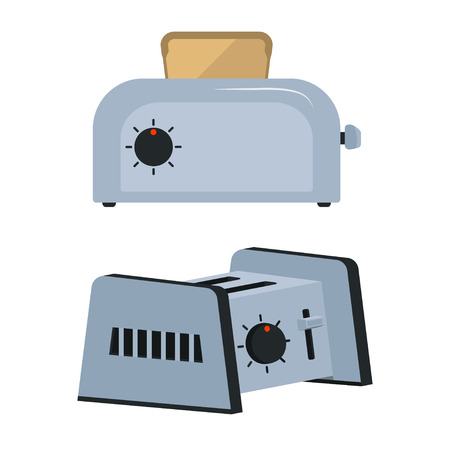 Set toaster on white background Vector