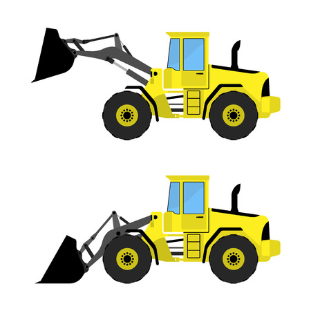 front loading: Front loader on a white background