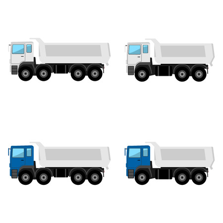 Tippers on a white background